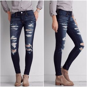 American Eagle Distressed Super-Stretch Jeggings